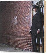 Forties Style Film Noir Gangster Wood Print by Diane Diederich