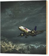 Foul Weather Fedex Wood Print by Marvin Spates