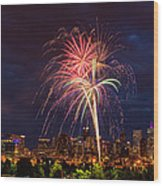 Fourth Of July Wood Print by John K Sampson