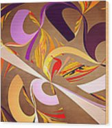 Fractal - Abstract - Space Time Wood Print by Mike Savad
