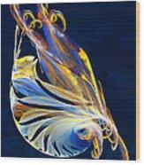 Fractal - Sea Creature Wood Print by Susan Savad