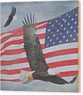 Freedom Flight Wood Print by Angie Vogel