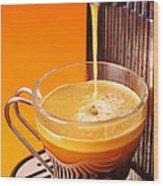 Fresh Espresso Wood Print by Carlos Caetano