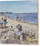 From Sandcastles To College Wood Print by Jack Skinner
