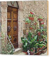 Front Door Wood Print by Ellen Henneke