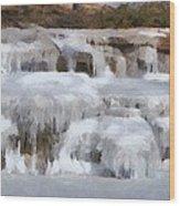 Frozen Falls Wood Print by Jeff Kolker