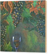 Fruit Of The Vine Wood Print by Sandra Cutrer