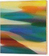 Fury Seascape 1 Wood Print by Amy Vangsgard