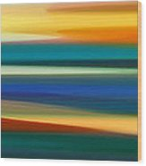 Fury Seascape Panoramic 1 Wood Print by Amy Vangsgard
