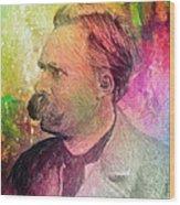 F.w. Nietzsche Wood Print by Taylan Apukovska