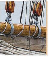 Gaff And Mainsail Wood Print by Marty Saccone