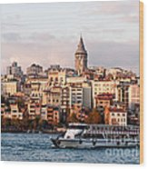 Galata Skyline 03 Wood Print by Rick Piper Photography