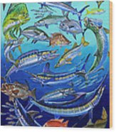 Gamefish Collage In0031 Wood Print by Carey Chen