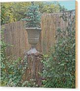 Garden Decor 2 Wood Print by Muriel Levison Goodwin