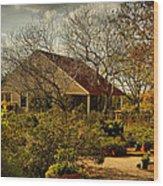 Garden Fantasy Wood Print by Linda Unger