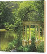 Garden - The Temple Of Love Wood Print by Mike Savad