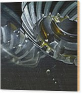 Gears Cogs And Oil Industry Wood Print by Christian Lagereek