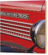 General Motors Truck Wood Print by Thomas Young