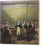 General Washington Resigning His Commission Wood Print by Pg Reproductions