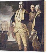 Generals At Yorktown, 1781 Wood Print by Granger