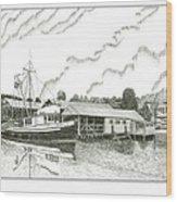 Genius Ready To Fish Gig Harbor Wood Print by Jack Pumphrey