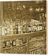 Genoa Bar Oldest Saloon In Nevada's Old West History Wood Print by Artist and Photographer Laura Wrede