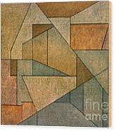 Geometric Abstraction Iv Wood Print by David Gordon