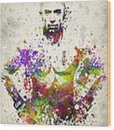 Georges St-pierre Wood Print by Aged Pixel