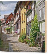 German Old Village Quedlinburg Wood Print by Heiko Koehrer-Wagner