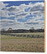 Gettysburg Battlefield - Pennsylvania Wood Print by Brendan Reals