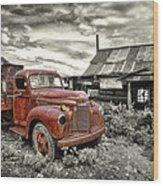 Ghost Town Truck Wood Print by Robert Jensen
