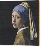 Girl With A Pearl Earring Wood Print by Johannes Vermeer