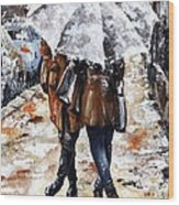 Girlfriends Wood Print by Emerico Imre Toth