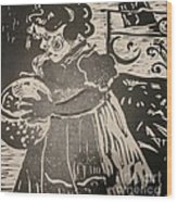 Girl's Play Wood Print by PainterArtist FINs husband Maestro