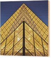 Glass Pyramid Wood Print by Brian Jannsen