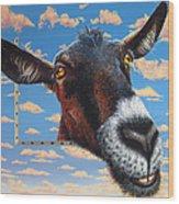 Goat A La Magritte Wood Print by Jurek Zamoyski