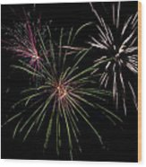 God Bless America Fireworks Wood Print by Christina Rollo