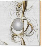 Gold And Pearl Wood Print by Anastasiya Malakhova