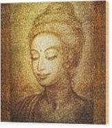 Golden Buddha Wood Print by Ananda Vdovic