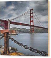 Golden Gate Bridge Wood Print by Eduard Moldoveanu