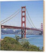 Golden Gate Bridge Wood Print by Kelley King