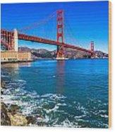 Golden Gate Bridge San Francisco Bay Wood Print by Scott McGuire