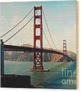 Golden Gate Bridge Wood Print by Sylvia Cook