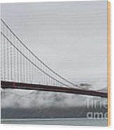 Golden Gate By The Bay Wood Print by David Bearden