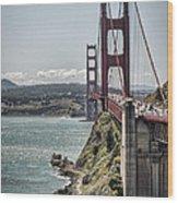 Golden Gate Wood Print by Heather Applegate