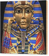 Golden Inner Sarcophagus Of A Pharaoh Wood Print by Daniel Hagerman