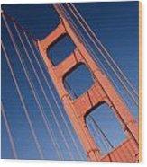 Golden Tower II Lh Wood Print by Darren Patterson