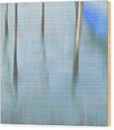 Gondola Poles Wood Print by Marion Galt