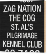 Gonzaga College Town Wall Art Wood Print by Replay Photos