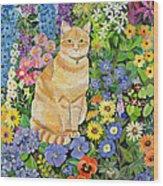 Gordon S Cat Wood Print by Hilary Jones